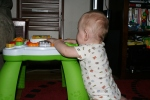 Ben starting to pull up on his activity table