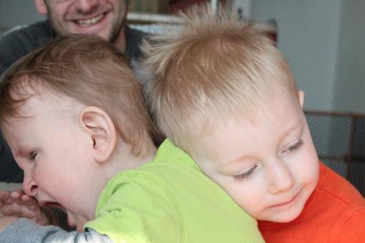 Ben and Clavin hugs